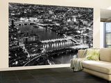 Wall Mural - View of City of London with St. Paul's Cathedral and River Thames at Night - London Wall Mural – Large by Philippe Hugonnard