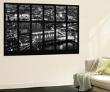 Wall Mural - Window View - City of London with St. Paul's Cathedral and River Thames at Night - UK Wall Mural by Philippe Hugonnard