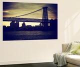 Wall Mural - The Williamsburg Bridge at Nightfall - Brooklyn - New York Wall Mural by Philippe Hugonnard