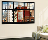 Wall Mural - Window View - Urban View with the Empire State Building - Manhattan - New York Wall Mural by Philippe Hugonnard