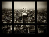 Window View of City of London with The Walkie-Talkie and The Gherkin Buildings - London - England Photographic Print by Philippe Hugonnard