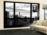 Wall Mural - Window View - Manhattan at Sunset with One World Trade Center - New York Wall Mural – Large by Philippe Hugonnard