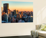 Wall Mural - Manhattan Landscape with the New Yorker Hotel at Sunset - New York - USA Wall Mural by Philippe Hugonnard