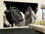 Wall Mural - Big Ben and Westminster Station Underground - Subway Station Sign - London - UK Wall Mural – Large by Philippe Hugonnard