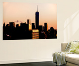 Wall Mural - Manhattan Cityscape at Sunset with the One World Trade Center - New York - USA Wall Mural by Philippe Hugonnard