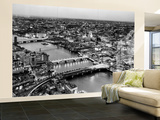 Wall Mural - View of City of London with St. Paul's Cathedral at Nightfall - River Thames - London Wall Mural – Large by Philippe Hugonnard