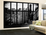 Wall Mural - Window View - Manhattan View with Times Square and 42nd Street - New York Wall Mural – Large by Philippe Hugonnard