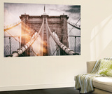 Wall Mural - The Brooklyn Bridge - Manhattan - New York - USA Wall Mural by Philippe Hugonnard