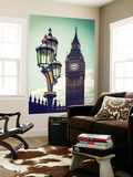 Wall Mural - Big Ben and the Royal Lamppost UK - City of London - UK - England Wall Mural by Philippe Hugonnard
