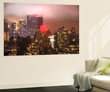 Wall Mural - Manhattan on a Foggy Night with the New Yorker Hotel - New York - USA Wall Mural by Philippe Hugonnard