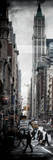 Vertical Panoramic - Door Posters - Urban Street Scene in Broadway at Sunset - Manhattan Photographic Print by Philippe Hugonnard