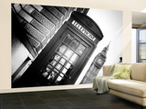 Wall Mural - Red Phone Booth in London with the Big Ben - City of London - UK - England Wall Mural – Large by Philippe Hugonnard