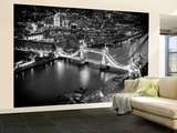 Wall Mural - View of City of London with the Tower Bridge at Night - London - UK Reproduction murale géante par Philippe Hugonnard