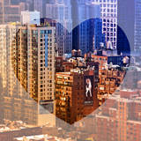 Love NY Series - Architecture & Buildings of Manhattan - New York City - USA Photographic Print by Philippe Hugonnard