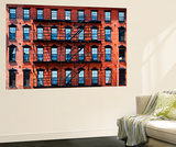 Wall Mural - New York Facade of Building with Fire Escapes - USA Wall Mural by Philippe Hugonnard