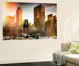 Wall Mural - View of Central Park with Snow Gapstow Bridge - Manhattan - New York - USA Wall Mural by Philippe Hugonnard