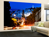 Wall Mural - Lombard Street at Night - San Francisco - California - USA Wall Mural – Large by Philippe Hugonnard