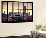 Wall Mural - Window View - The One World Trade Center (1 WTC) at Sunset - Manhattan - New York Wall Mural by Philippe Hugonnard