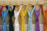 France Multi Coloured Dresses Hanging in a Row Photographic Print