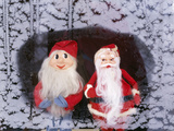 Father Christmas and Gnome Photographic Print by Ake Lindau