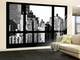 Wall Mural - Window View - The New Yorker Hotel - Manhattan - New York - B&W Photography Wall Mural – Large by Philippe Hugonnard