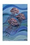 Three Jellyfish, 2014 Giclee Print by Xavier Cortada