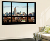 Wall Mural - Window View - Skyline Manhattan with the Empire State Building - New York Wall Mural by Philippe Hugonnard