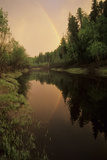 Rainbow after Evening Rain over River Negustyah Photographic Print by Andrey Zvoznikov