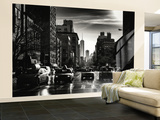 Wall Mural - Urban Scene of Manhattan with Taxis and 1WTC - New York City - USA Wall Mural – Large by Philippe Hugonnard