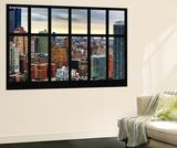 Wall Mural - Window View - Cityscape of Manhattan - New York - USA Mural por Philippe Hugonnard