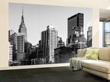 Wall Mural - Manhattan Cityscape with the Empire State Building - New York City Wall Mural – Large by Philippe Hugonnard