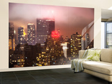 Wall Mural - Manhattan on a Foggy Night with the New Yorker Hotel - New York - USA Wall Mural – Large by Philippe Hugonnard