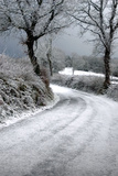 Devon Country Lane after a Snow Storm Photographic Print