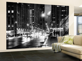 Wall Mural - Manhattan at Night with The Radio City Music Hall - New York - USA Wall Mural – Large by Philippe Hugonnard