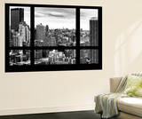 Wall Mural - Window View - Cityscape of Manhattan - New York - USA Reproduction murale par Philippe Hugonnard