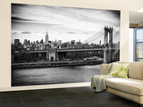 Wall Mural - The Manhattan Bridge and the Empire State Building - Manhattan - New York - USA Reproduction murale géante par Philippe Hugonnard