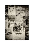 NYC Street Art - Patchwork of Old Posters of Broadway Musicals - Times Square - Manhattan Fotografiskt tryck av Philippe Hugonnard