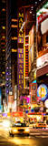 Door Posters - NYC Urban Scene with Yellow Taxis by Night - 42nd Street and Times Square Photographic Print by Philippe Hugonnard