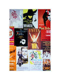NYC Street Art - Patchwork of Old Posters of Broadway Musicals - Times Square - Manhattan Fotografisk tryk af Philippe Hugonnard