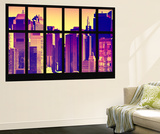 Wall Mural - Window View - City of NYC - Buildings of Times Squares - Manhattan - New York Wall Mural by Philippe Hugonnard