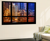 Wall Mural - Window View - Theater District Buildings of Manhattan - New York Wall Mural by Philippe Hugonnard