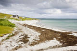 Sandy Beach and Croft on Berneray (Bearnaraigh) Photographic Print
