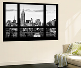 Wall Mural - Window View - Skyline Manhattan with the Empire State Building - New York Reproduction murale par Philippe Hugonnard