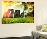 Wall Mural - Stonehenge - Abstract of Stones - Wiltshire - UK - England - United Kingdom - Europe Wall Mural by Philippe Hugonnard