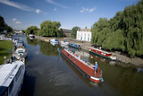 Canal Boats on the River Ouse, Ely, Cambridgeshire, England Photographic Print
