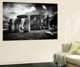 Wall Mural - Stonehenge - Abstract of Stones - Wiltshire - UK - England - United Kingdom - Europe Reproduction murale par Philippe Hugonnard