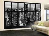 Wall Mural - Window View - Times Square and 42nd Street by Night - Manhattan - New York Wall Mural – Large by Philippe Hugonnard
