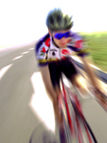 Cyclist at Speed Photographic Print