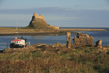 Lindisfarne Castle View from Harbour Photographic Print