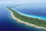 Aerial Ant Atoll Southwest of Pohnpei, Micronesia Photographic Print